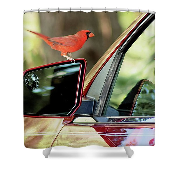 The Red Menace Shower Curtain