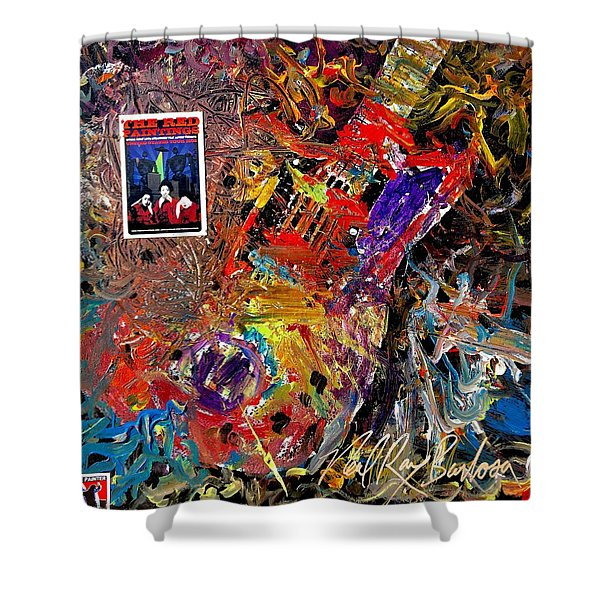 The Red Paintings Shower Curtain