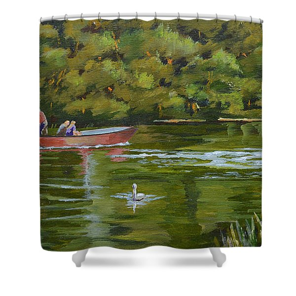 The Red Punt Shower Curtain