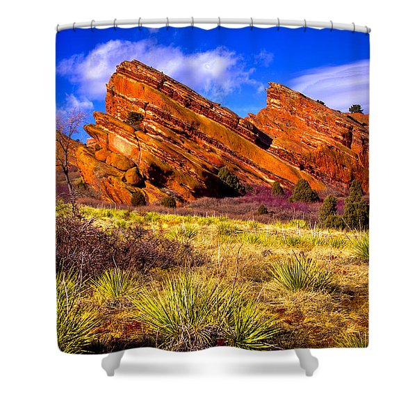 The Red Rock Park Vi Shower Curtain