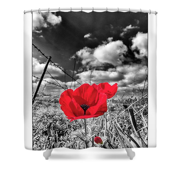 The Red Spot Shower Curtain