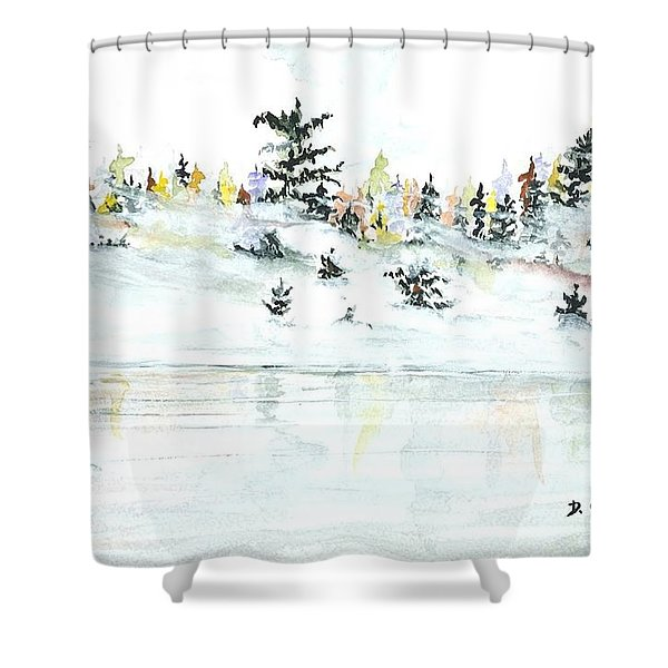 The Reflection Lake Shower Curtain