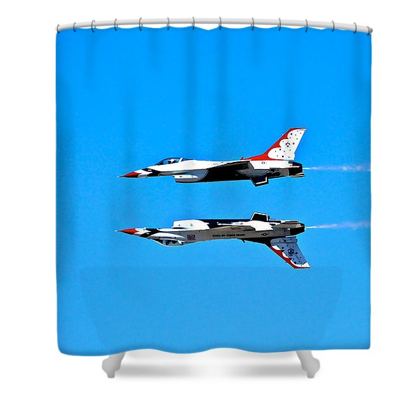 The Reflection Pass Shower Curtain