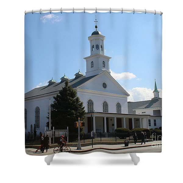 The Reformed Church Of Newtown- Shower Curtain