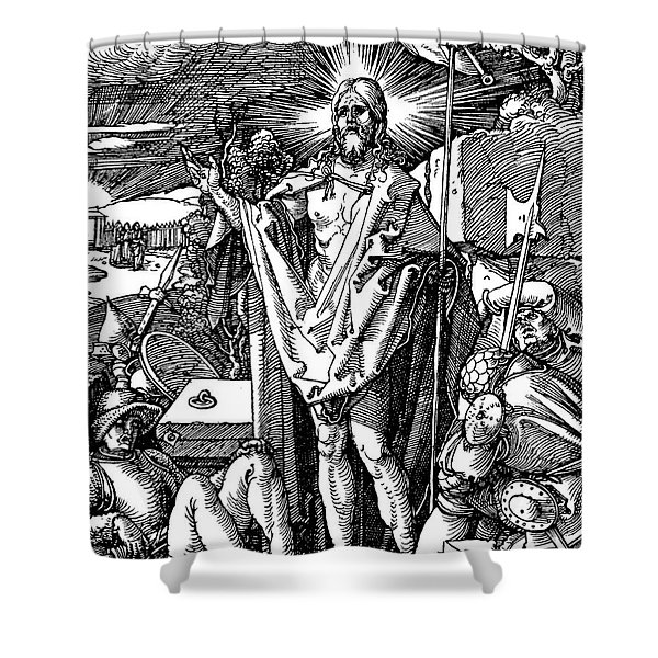 The Resurrection, From The Small Passion Shower Curtain
