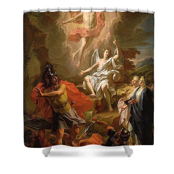 The Resurrection Of Christ Shower Curtain