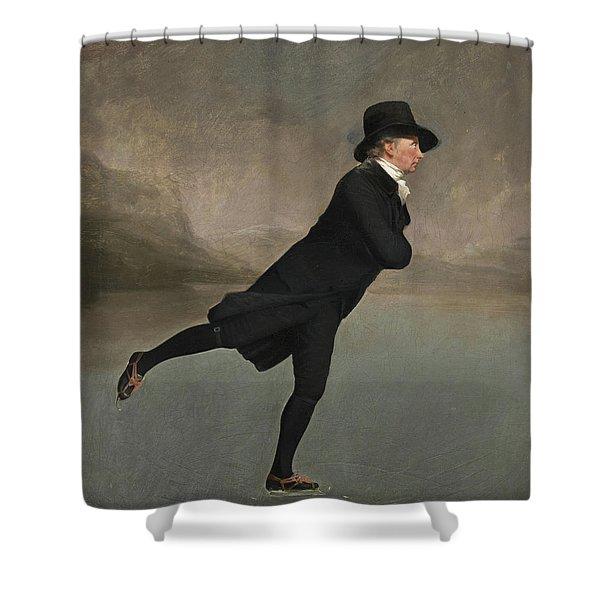 The Reverend Robert Walker Skating On Duddingston Loch Shower Curtain