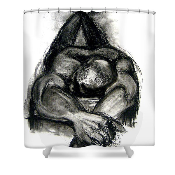 Shower Curtain featuring the drawing The Revolutionary Act by Gabrielle Wilson-Sealy