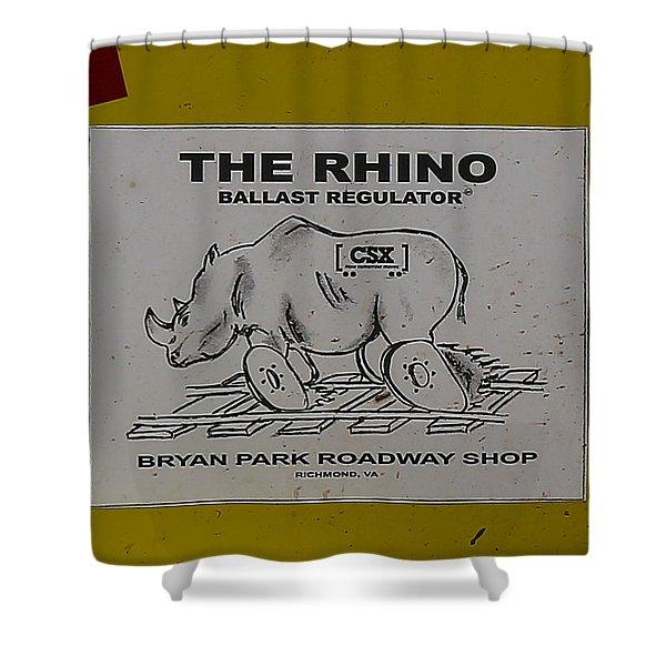 The Rhino Ballast Regulator Shower Curtain