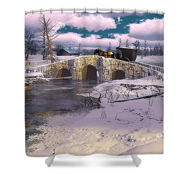 The Rhythm Of Frost Shower Curtain