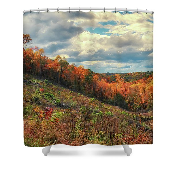 The Ridges Of Southern Ohio In Fall Shower Curtain