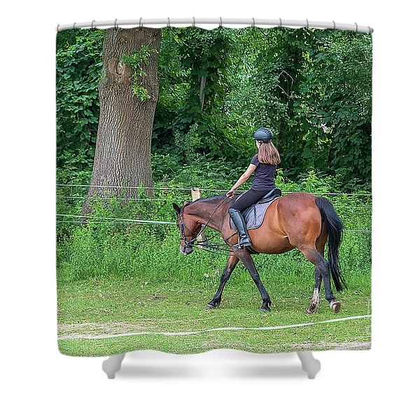 The Riding School In Suburb Shower Curtain