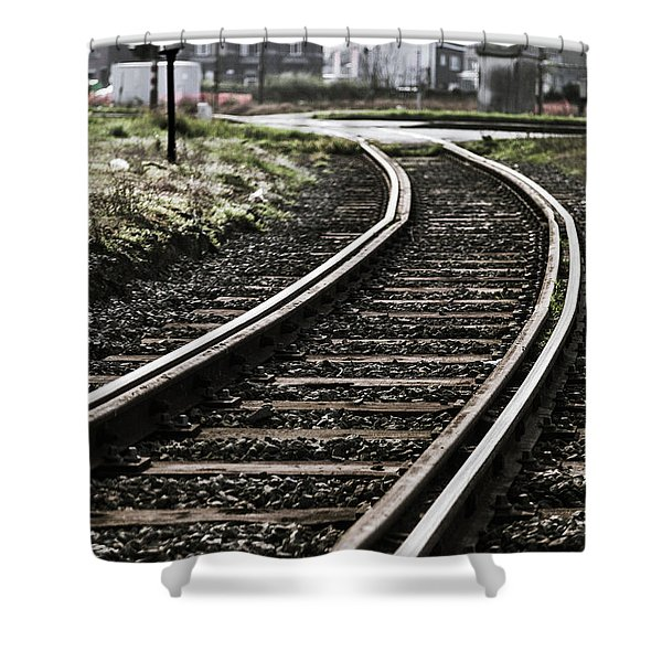 The Right Track? Shower Curtain