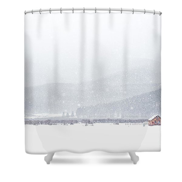 The Rise Of Winter Shower Curtain