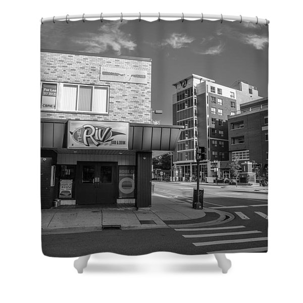 The Riv Ion Black And White Shower Curtain