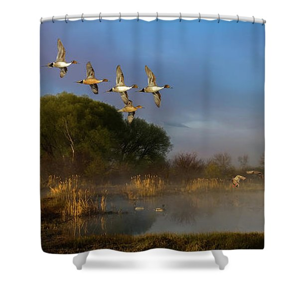 The River Bottoms Shower Curtain