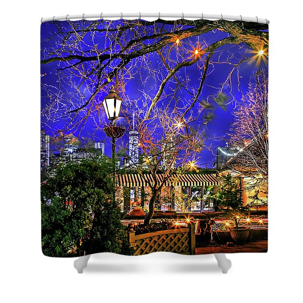The River Cafe Shower Curtain