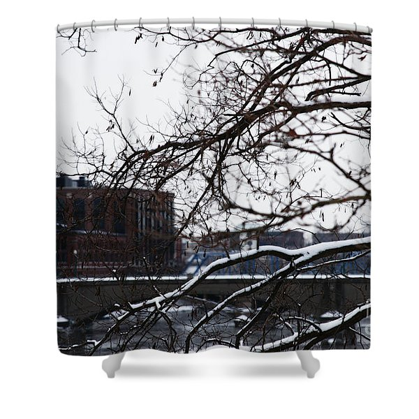 The River Divide Shower Curtain