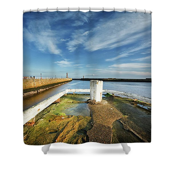 The River Esk Shower Curtain