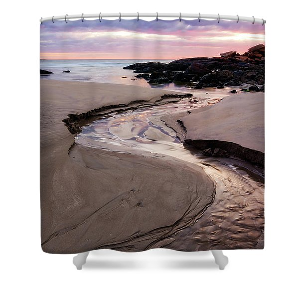 The River Good Harbor Beach Shower Curtain