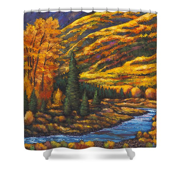 The River Runs Shower Curtain