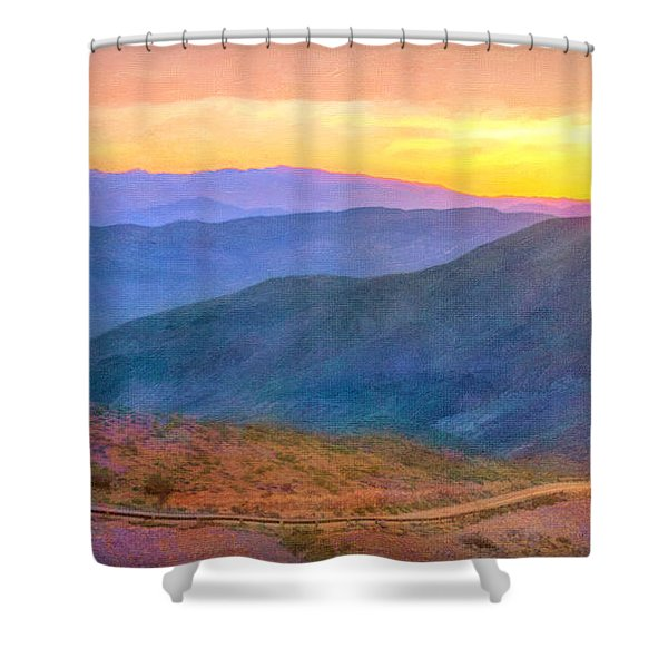 The Road Below Shower Curtain