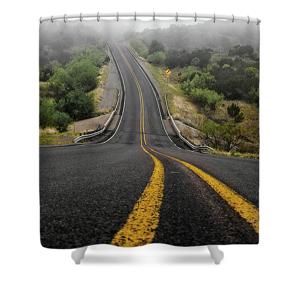 The Road Goes On Forever And The Party Never Ends Shower Curtain