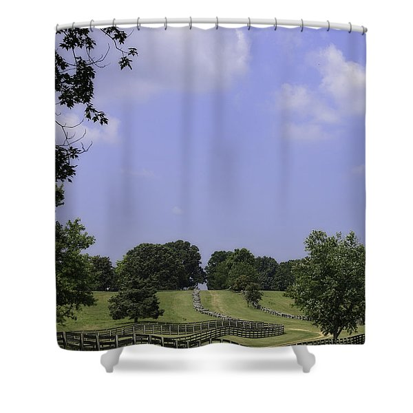 The Road To Lynchburg From Appomattox Virginia Shower Curtain by Teresa Mucha