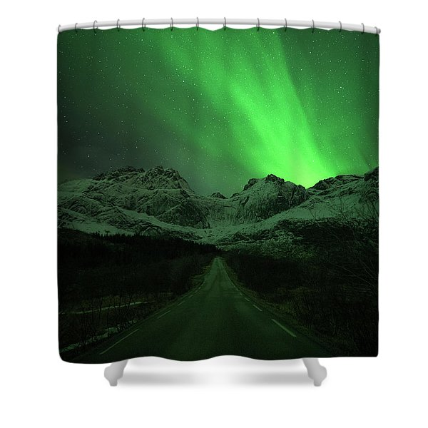 The Road To Nusfjord Shower Curtain