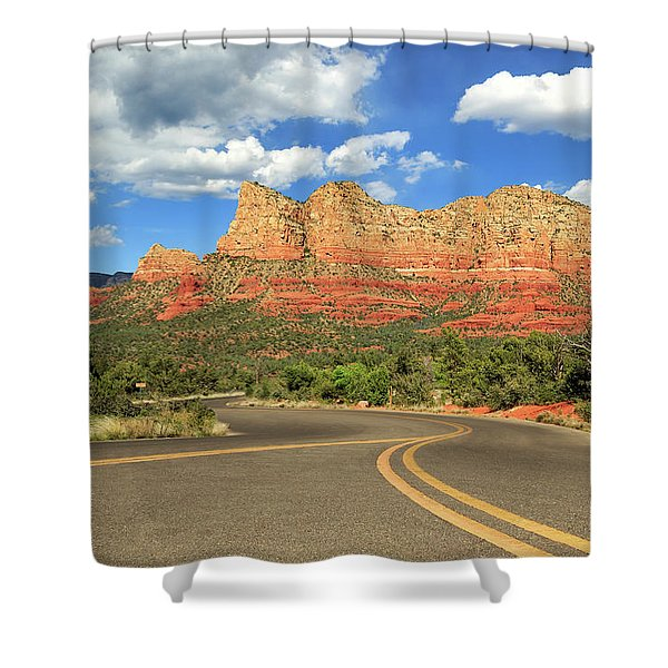 The Road To Sedona Shower Curtain