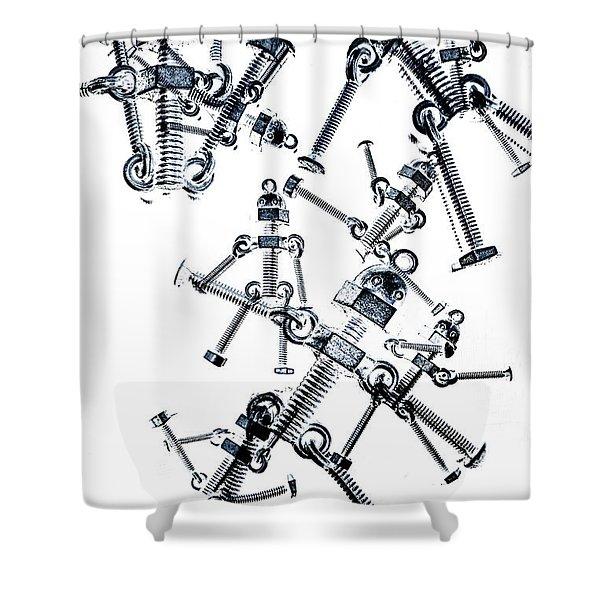 The Robot Dance Shower Curtain