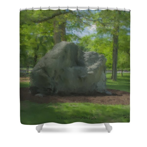 The Rock At Frothingham Park, Easton, Ma Shower Curtain