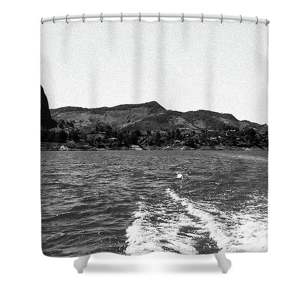 The Rock Of Guatape Shower Curtain