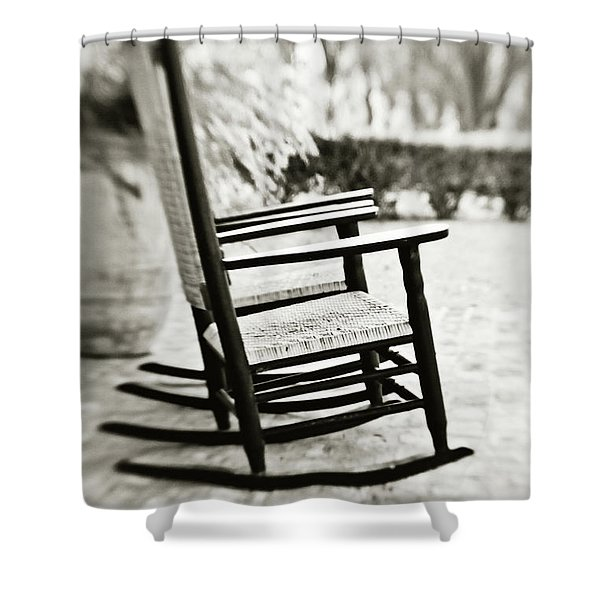 The Rocker - Sepia Shower Curtain