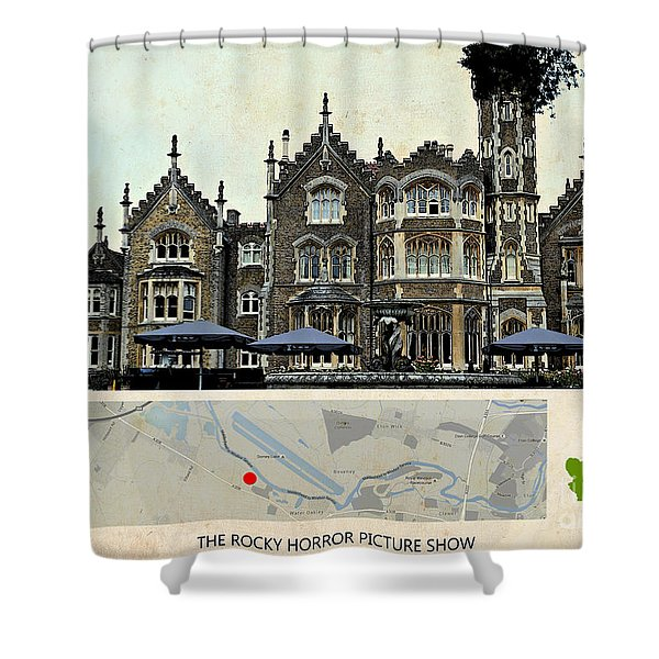 The Rocky Horror Picture Show Film Locations, Maidenhead, Berkshire Shower Curtain