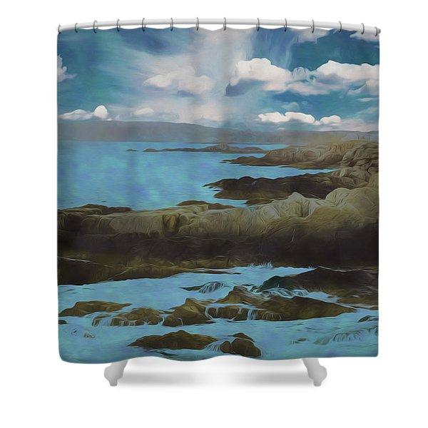 The Rocky Maine Coast. Shower Curtain