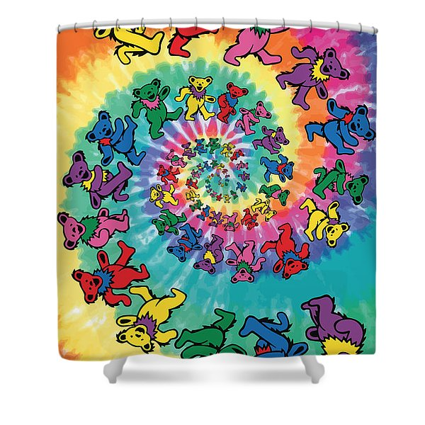 The Roller Bears Shower Curtain