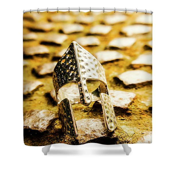 The Roman Pavement Shower Curtain