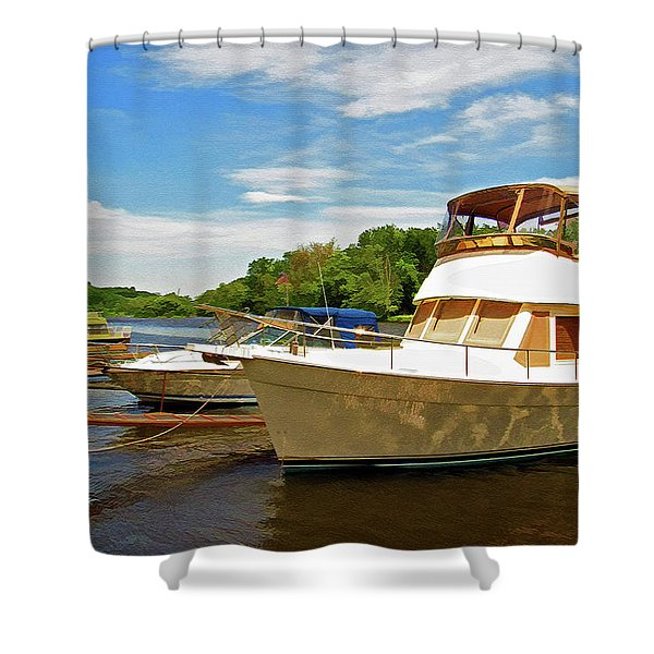 Shower Curtain featuring the photograph The Rondout At Eddyville by Nancy De Flon