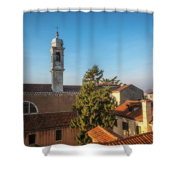 The Roofs Of Venice Shower Curtain