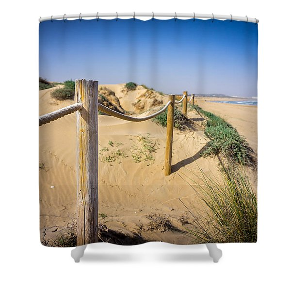 The Rope Fence. Shower Curtain