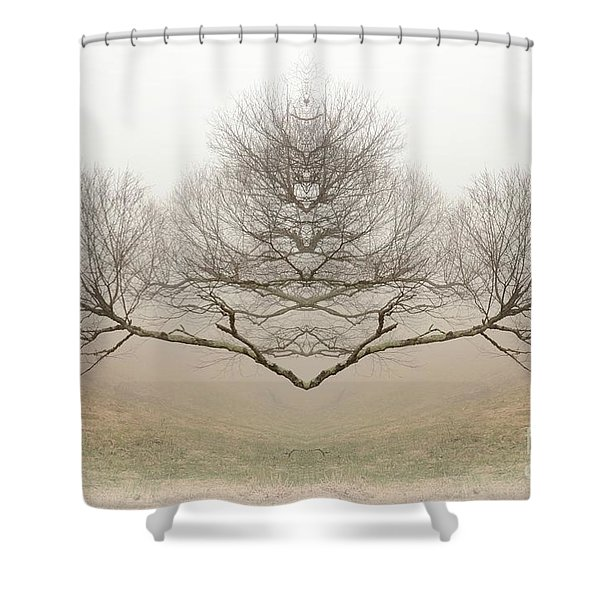 The Rorschach Tree Shower Curtain
