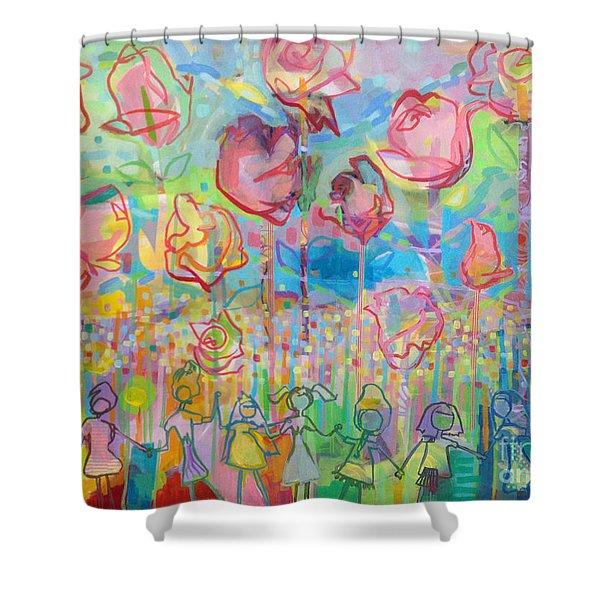 The Rose Garden, Love Wins Shower Curtain