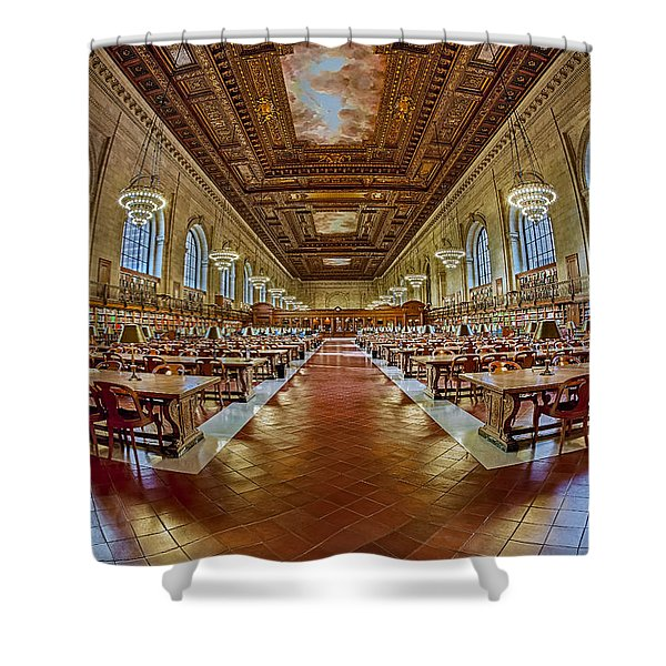 The Rose Main Reading Room Nypl Shower Curtain