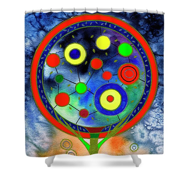 The Round Tree Shower Curtain