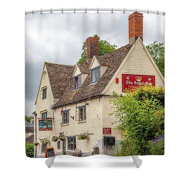 The Royal Oak - An English Country Pub Shower Curtain