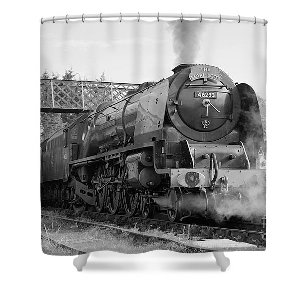 The Royal Scot In Black And White Shower Curtain