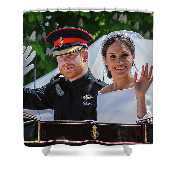 The Royal Wedding Of Prince Harry  To Meghan  Shower Curtain