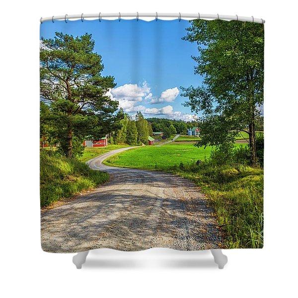 The Rural Landscape Shower Curtain