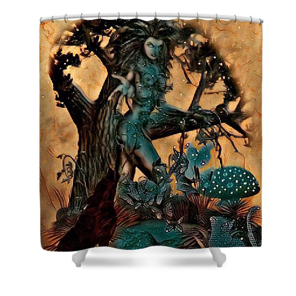 The Sacred Waters Shower Curtain